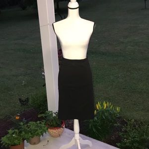 18W Dennis by Dennis Basso Black Pencil Skirt
